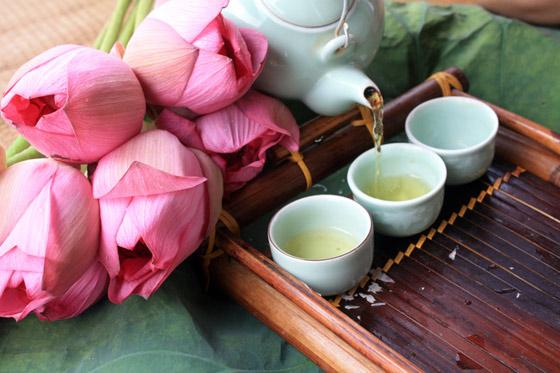 Lotus tea – a popular type of tea especially in summers