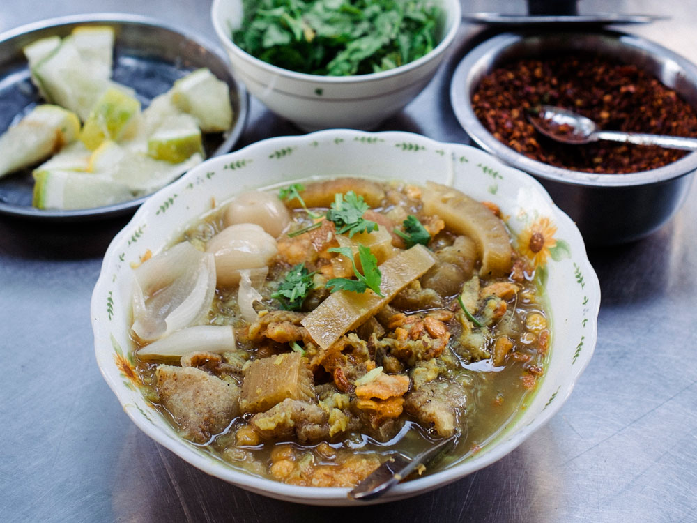 Mohinga is the staple breakfast of Myanmar