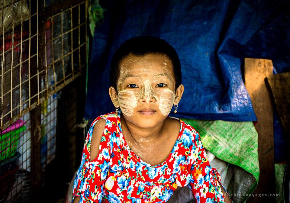A thanaka leave image of Burmese